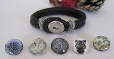 Snap Button Eco Leather Snap Button bracelets - change your button. £10.