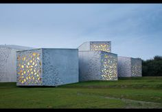 the lacey perforated concrete walls of the new extension ~ Le Musée d'art Moderne, Lille