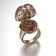 Tentacles, Fungi & Anatomy Cast In Fine Metals. The Very Cool Jewelry of Peggy Skemp.