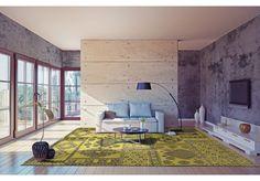 Dywany Boho :: Dywan naturalny vintage 8913 Caipirinha - limonkowy - Carpets&More - wysokiej klasy dywany i akcesoria tekstylne