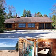 Sunrise Beach by Hiawatha's Vacation Homes opens directly onto a private, sand beach on Lake Superior — enjoy swimming, boating and year-round fishing on the scenic northern Michigan lakeshore! See more rentals:   #itscabintime #bookdirect #lakesuperior #travelmi #beachhouse