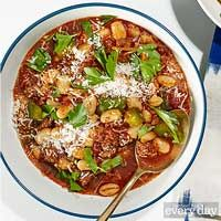 Amanda Freitag's Italian Sausage Chili - bell pepper, italian sausage, cannellini beans