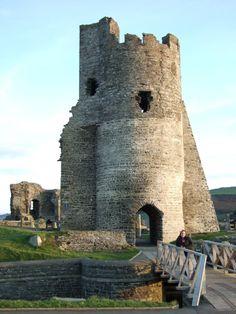 Aberystwyth Castle ruins Wales