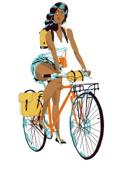 Bike Babe. Illustration by James Noellert