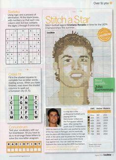 sandylandya@outlook.es Cristiano Ronaldo Cross Stitch Chart