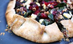 Beet, Greens & Mushroom Crostata Recipe: Sponsored by Sartori Cheese Sartori Cheese, Crostata Recipe, A Food, Food And Drink, Artisan Cheese, Course Meal, Roasted Beets, Salted Butter, Perfect Food
