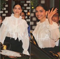 Deepika Padukone at Ambani's party for #MumbaiIndians last night.❤