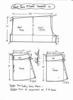 Patrón falda short