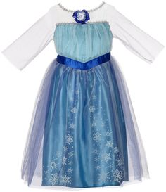 Frozen Elsa's Dress for Halloween, dress up, or any day your little one wants to be a princess.