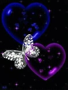 Pupler and blue b and heart Blue Butterfly Wallpaper, Heart Wallpaper, Purple Butterfly, Cute Wallpaper Backgrounds, Butterfly Art, Love Wallpaper, Pretty Wallpapers, Hearts And Roses, Butterfly Pictures