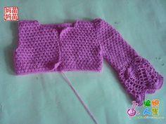 bom dia pessoal, muito frio dá vontade de crochetar ou tricotar com lã , achei este casaquinho Aqui , é super lindo, tem todo processo d...