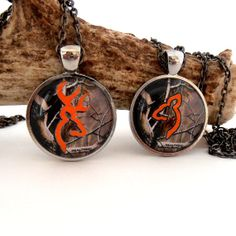 Items similar to Camo and Orange Buck and Doe Necklace, Deer Pendant, Couples Jewelry, Rustic Wedding, His Doe Her Buck on Etsy Matching Necklaces For Couples, Couple Necklaces, Couple Jewelry, Cute Country Couples, Farm Clothes, Country Jewelry, Western Jewelry, Diamond Solitaire Necklace, Teardrop Necklace