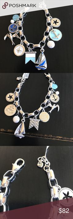 Brighton indigo bracelet NWT This bracelet is amazing! By Brighton indigo beach every charm is as beautiful on one side as it is on the other!! Beautiful nautical theme! New with tags Brighton Jewelry Bracelets