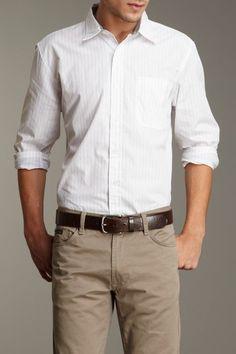 Calvin Klein Jeans Men David Stripe Shirt