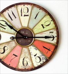 ビッグな掛時計 レインボー