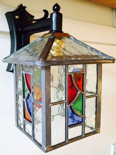 Individual pieces of Glass (Not transfered colour that fades). Stained Glass Lamp Shades, Stained Glass Light, Stained Glass Designs, Stained Glass Panels, Stained Glass Projects, Stained Glass Patterns, Mosaic Glass, Glass Ornaments, Glass Lanterns