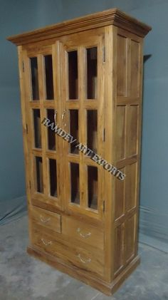 Indian Old Teak Cabinet With Three Drawers