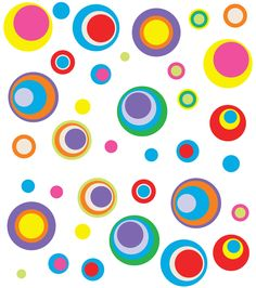 Funky Dots and Circles Wall Stickers Background Design Vector, Wall Stickers, Dots, Learning, Outdoor Decor, Tabata, Pattern, Envelopes, Circles