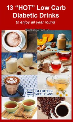 13 Hot Diabetic Drinks To Enjoy All Year Round - best of all they are low carb and won't send your blood sugar soaring! You are in the right place about Healthy Drinks for energy Here we offer you the Diabetic Drinks, Diabetic Meal Plan, Healthy Snacks For Diabetics, Diabetic Recipes, Healthy Drinks, Diet Recipes, Healthy Fats, Diet Tips, Cure Diabetes Naturally