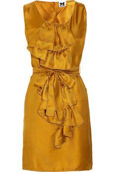 M Missoni - Ruffled silk-twill dress