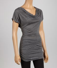 Look what I found on #zulily! Charcoal Drape Crisscross Tunic by Casa Lee #zulilyfinds