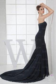 Trumpet Strapless Chiffon Elastic Silk Prom Dress  Crazy price!