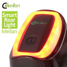 Meilan Smart Bicycle Rear Light  Bike Tail LED Light   Shock And Daylight  Sensor switch 7 Flash Model  USB Bicycle Accessories >>> Smotrite etot zamechatel'nyy produkt.