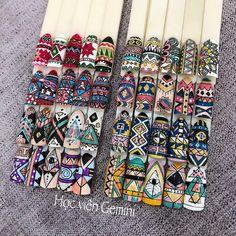 Indian Nails, Geometric Nail, Trendy Nail Art, Bullet Journal Art, Nail Brushes, Nail Arts, Swag Nails, Pedicure, Nail Art Designs