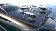 25 Milion $ Mega Yacht Concept: THE EXHIBITIONIST