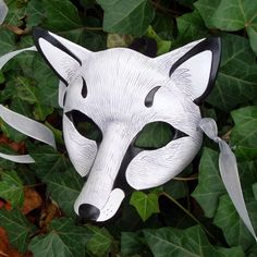 White Fox Leather Mask by merimask on DeviantArt