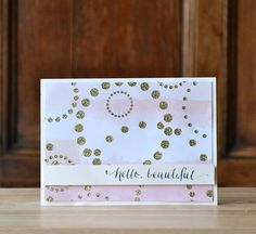 by Amy Gray - using Circle Dots stencil by Simon Says Stamp and gold glitter paste
