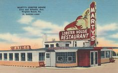 https://flic.kr/p/uDcYD3 | Marty's Lobster House - Virginia Beach, Virginia | Virginia Beach's Famous Sea Food Restaurant Specializing in Maine Lobster - Kansas City Steaks - Chicken. Tichnor Quality Views 85229