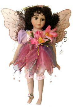 Fairy Porcelain Dolls-Fairy Dolls-Angel Porcelain Dolls-FAIRY Porcelain Doll By Cathay Collection-Jaden