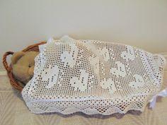 COPERTINA BIMBI con ochette lavorata a filet di piccolibijoux