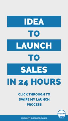 Passive income idea, to info product launch to sales and paying customers in 24 hours. Want to see how I did it? Click through to read my launch plan process. Launch ideas, online business, launch product, launch campaign, launch website, launch book, lau