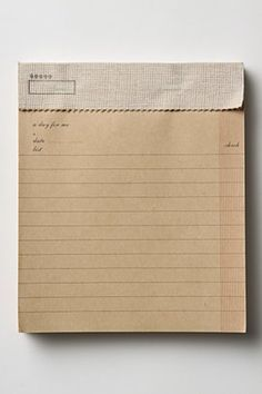 """I have this, it's my favorite notepad - love the """"repurpose"""" feel to this."""