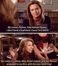 I loved this part. With Mia awkwardly egging Peyton on while brooke and hailey are just awkwardly in the middle