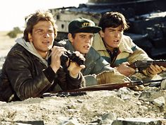 Patrick Swayze; C. Thomas Howell; Charlie Sheen - Red Dawn, 1984