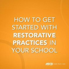 Use restorative practices in your school to build relationships and a sense of community in the classroom. Classroom Behavior, Classroom Management, Behavior Management, Classroom Meeting, Class Management, Classroom Organization, Classroom Ideas, School Leadership, Educational Leadership