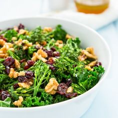 Copycat Chick fil A Superfood Salad Link to Maple dressing also
