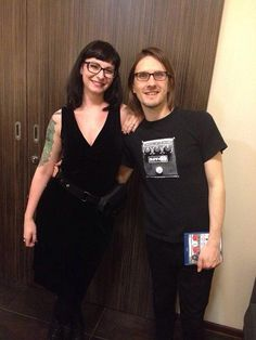 Steven Wilson and Carrie, the girl from Hand.Cannot.Erase cover.