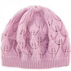 Pink Leaf Beanie Knitting Pattern