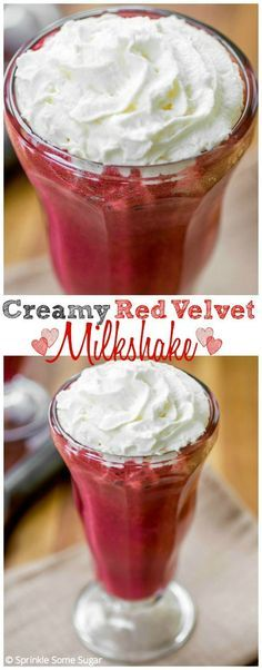 Creamy Red Velvet Milkshake. This shake is just dreamy! Super creamy, delicious and perfect for Valentine's Day!