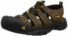 KEEN Men's Newport Sandal Pull-on sport sandal featuring double-needle stitching and leather upper with logo hit at counter AEGIS Microbe Shield-treated lining Quick-draw bungee lacing system Patented toe guard Easy-on heel loop Non-marking siped outsole Best Hiking Shoes, Hiking Sandals, Trail Running Shoes, Hiking Boots, Men's Sandals, Newport, Best Walking Sandals, Walking Shoes, Thing 1