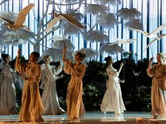 The dancers with the egrets (Photo Courtesy of Designlab) computer crashed amazing birds and choreography