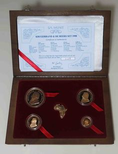 South Africa ZAR PRESTIGE KRUGERRAND & DE BEERS SET 1998 LIMITED EDITION...