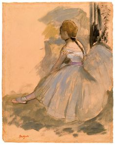 The Morgan Library & Museum Online Exhibitions - Degas: Drawings and Sketchbook - Edgar Degas - Seated Dancer Edgar Degas, Degas Drawings, Degas Paintings, Degas Ballerina, Ballerina Painting, Leg Art, Art Ancien, Jeff Koons, Canvas Art