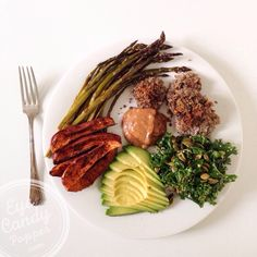 Meatless Monday: Massaged kale salad + lentil fritters with almond butter dipping sauce (vegan, paleo, gluten-free).