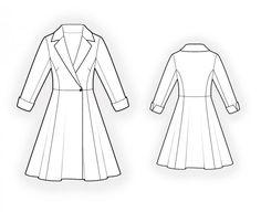 Kleid  - Schnittmuster #4602 Maßgeschneiderte Schnittmuster von Lekala zum kostenlosen Download Tailliert, Abnäher, Prinzessnähte, Waist seam, Geknöpft, Wrap, V-Halsausschnitt, Fallender Kragen, 3/4-Ärmel, Eingesetzte Ärmel, Ärmelaufschlag, Knielang, Halbkreisrock, Ohne Taschen