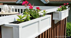We built our own custom wood planter boxes in a day for a fraction of…